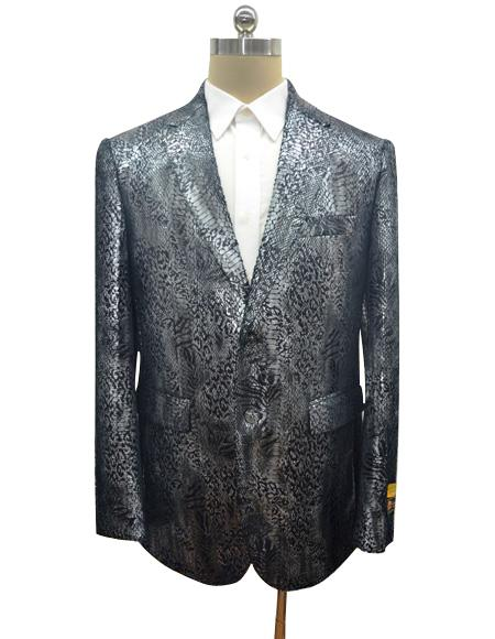 Men's Black Men's Snake Print Jacket for Sale