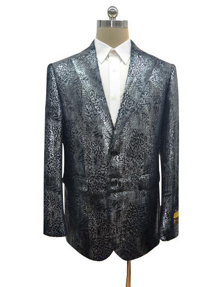 Black Men's Snake Python Snakeskin Jacket For Sale