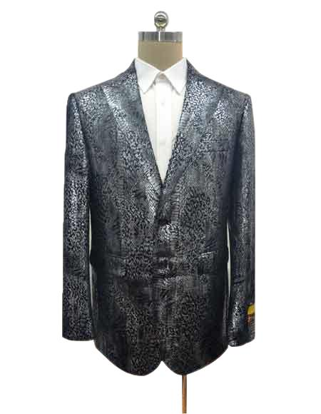 Mens Two Button Cheap Priced Designer Fashion Dress Casual Blazer On Sale Exotic Black Peak Blazer