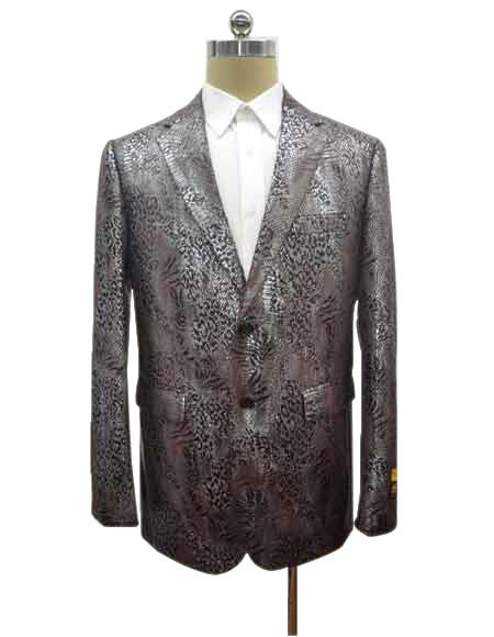 Mens Cheap Priced Designer Fashion Dress Casual Blazer On Sale Two Button Exotic Brown Blazer