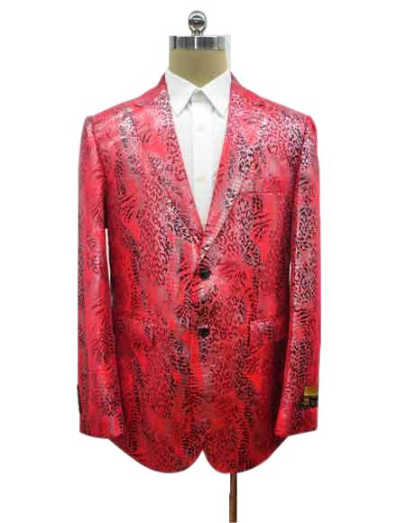 Mens Two Button Cheap Priced Designer Fashion Dress Casual Blazer On Sale Exotic Red Blazer