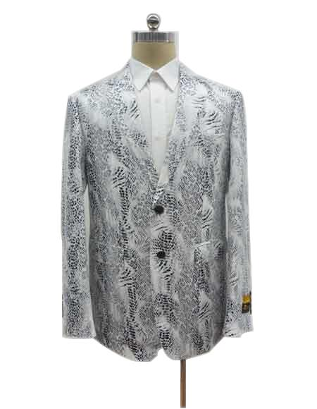 Mens Two Button Exotic White Cheap Priced Designer Fashion Dress Casual Blazer On Sale Blazer