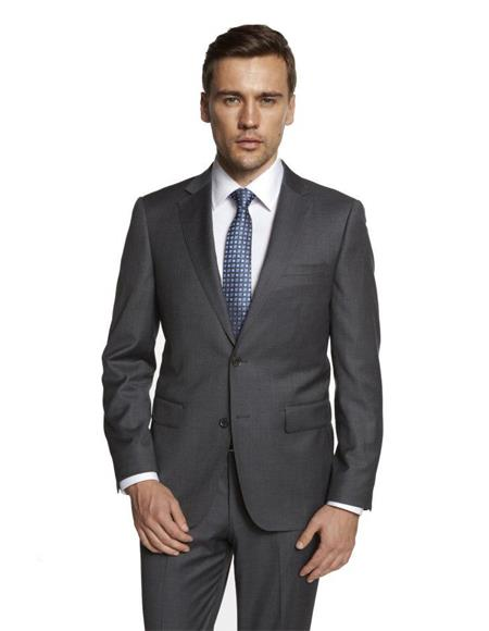 Men's Solid Medium Grey Suit