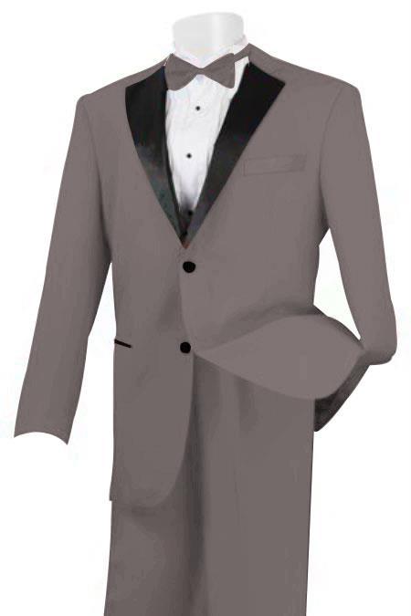 Linen Fabric Tuxedo Light Grey