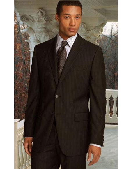 Athletic Cut Classic Suits Mens suit  Classic Relax Fit Pleated Pants 19 Inch Bottom Brown
