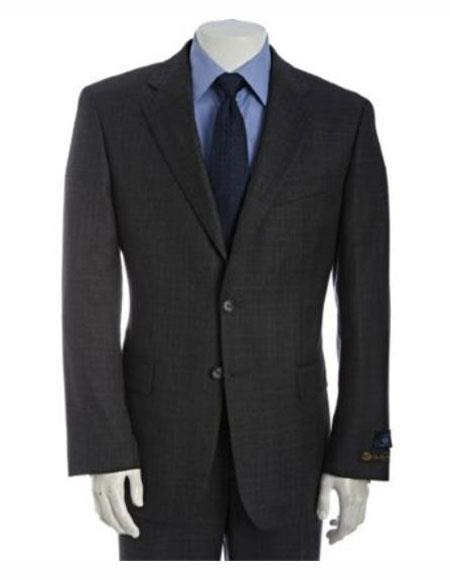 Athletic Cut Classic Suits Men's suit  Classic Relax Fit Pleated Pants 19 Inch Bottom Charcoal