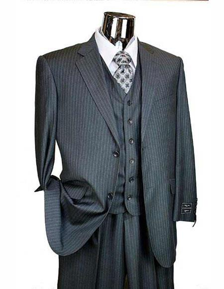 Charcoal Grey Athletic Cut Classic Suits