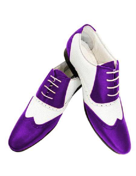 1920s  Dress Shoe Mobster Gangster Spectator shoes Zoot Style 50s Shoe Purple