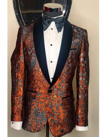 Mens Bronze Shawl Black Lapel Designer Casual Cheap Priced Fashion Blazer Dress Jacket