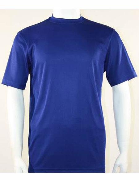 Mock Neck Shirts For Men Mid Night Blue
