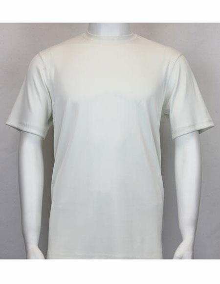 Mock Neck Shirts For Men Ivory