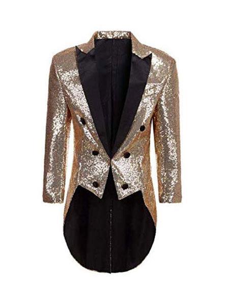 Mens Tailcoat Mens Tan Peak Lapel Designer Fashion Dress Casual Blazer