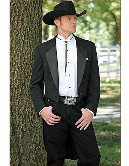Mens Wedding Cowboy Suit Jacket perfect for wedding Black