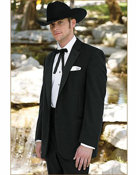 Men's Wedding Cowboy Suit Jacket perfect for wedding Black
