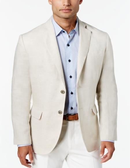Men's Two Button Ivory Cream Off White Cheap Priced Designer Fashion Dress Casual Blazer On Sale Blazer