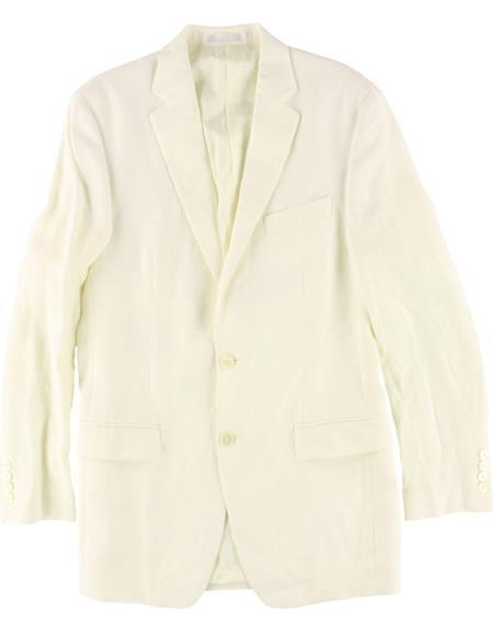 Mens Ivory Cream Off White Two Button Cheap Priced Blazer