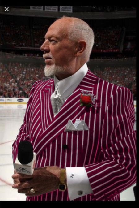 Men's Burgundy and White Pinstripe Double Breasted Blazer Sport Coat