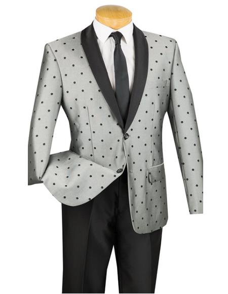 Put this in Polk Dot ~ Polka Dot Tuxedo Dinner Jacket Blazer Sport Coat