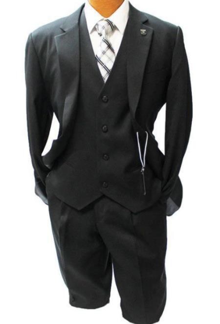 Stacy Adams Black Vested Classic Fit Suit