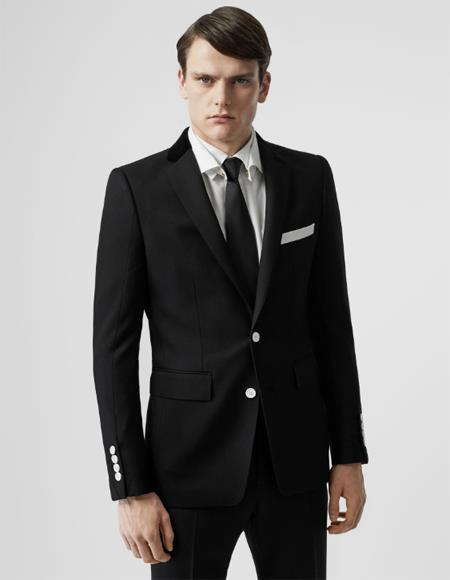 Black Wool Affordable Cheap Priced Men's Dress Suit For Sale With White Buttons Slim Fit or Regular Fit