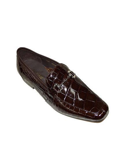 Belvedere Gerald, Alligator Slip-on Loafer, Style: 1024 - Brown Peanut