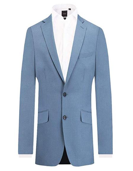 Mens Light Blue 2 Piece Affordable Cheap Priced Mens Dress Suit For Sale Slim Fit Notch Lapel