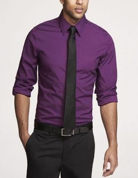 Purple Shirt Black Tie