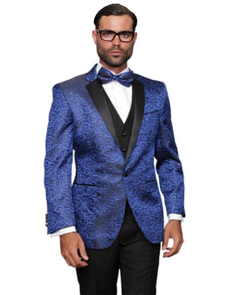 Royal Fashion Prom / Wedding / Stage Blazer Plus Bowtie Also Available in Big and Tall