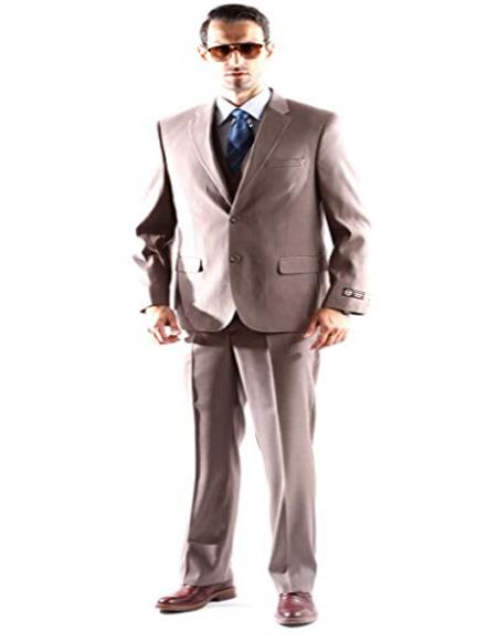 Caravelli Mens Superior 150s Single Breasted Two Button Pinstripe Dress Suit