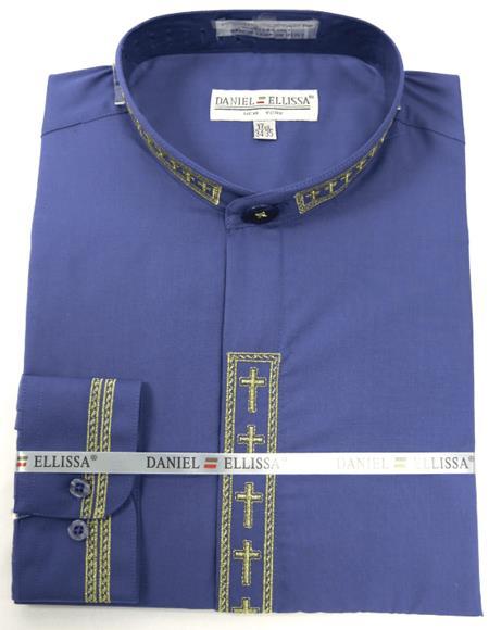 Daniel Ellissa Men's French Cuff Shirt Purple