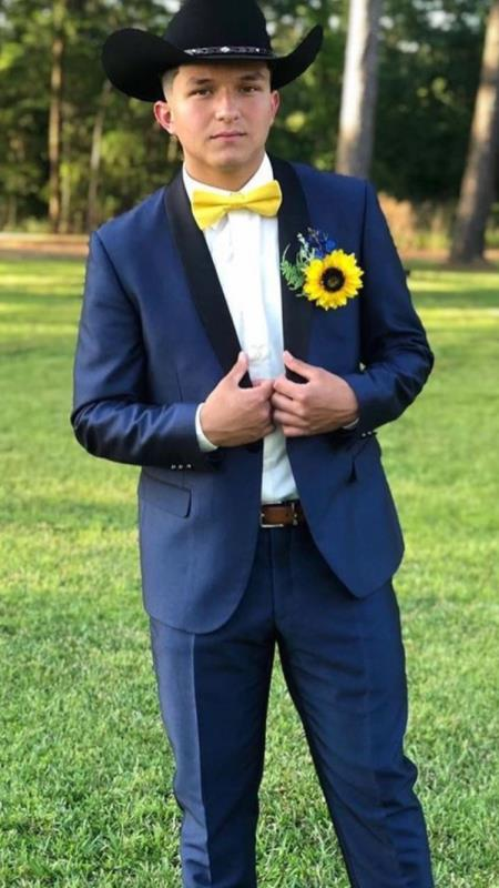 Men's Shawl Lapel Suit Blue