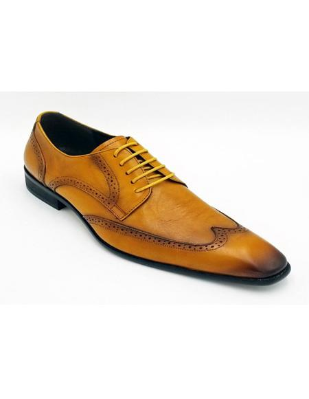 ZOTA Men's Premium Soft Genuine leather Lace Up Dress Shoe In Black