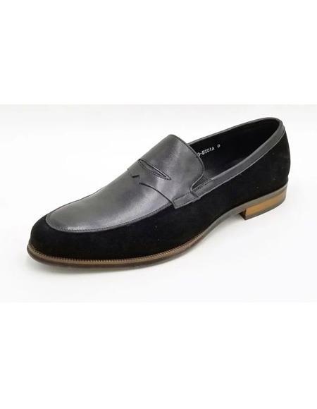 ZOTA Mens Premium Soft Genuine leather/Suede Dress Shoe In Brown/Tan