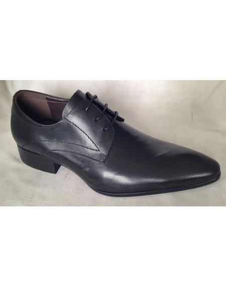 ZOTA Men's Premium Soft Genuine leather Dress Shoe In Black