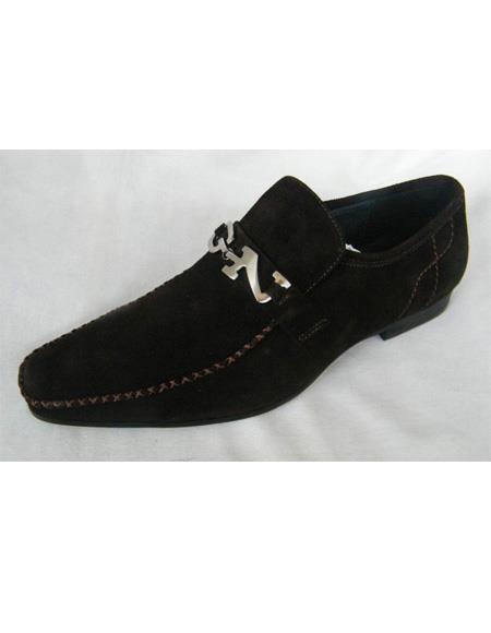 ZOTA Men's Premium Black Suede Dress Shoe