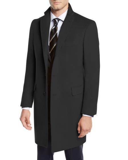 Men's Wool Car Coat ~ Designer Men's Wool Men's Peacoat Sale three-quarter to Kneed By Nardoni