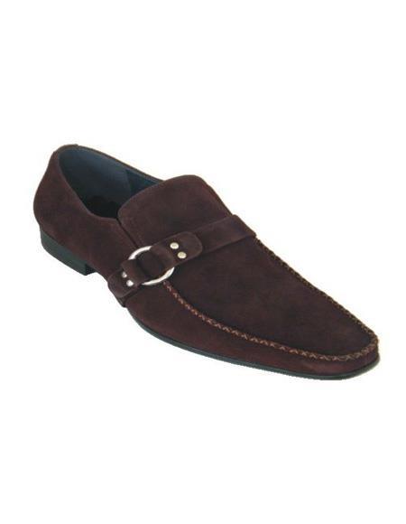 ZOTA Men's Premium Brown Suede Dress Shoe