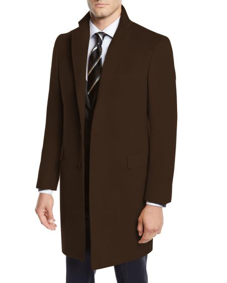 Men's Wool Car Coat ~ Designer Men's Wool Men's Peacoat Sale three-quarter to Kneed By Nardoni