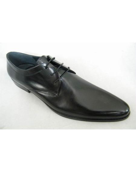 ZOTA Men's Premium Simply Smooth Soft Genuine leather Dress Shoe In Black