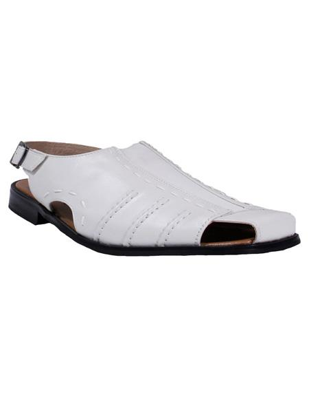 Men's Formal or Casual White Majestic Closed Toe