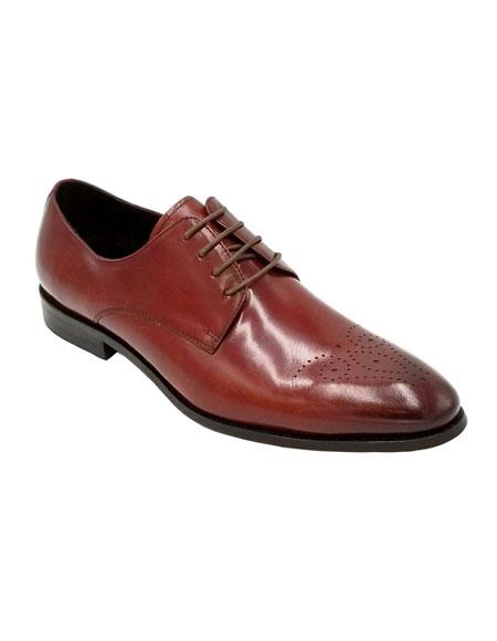 Men's Dress Shoe Burgundy Unique Zota Shoe