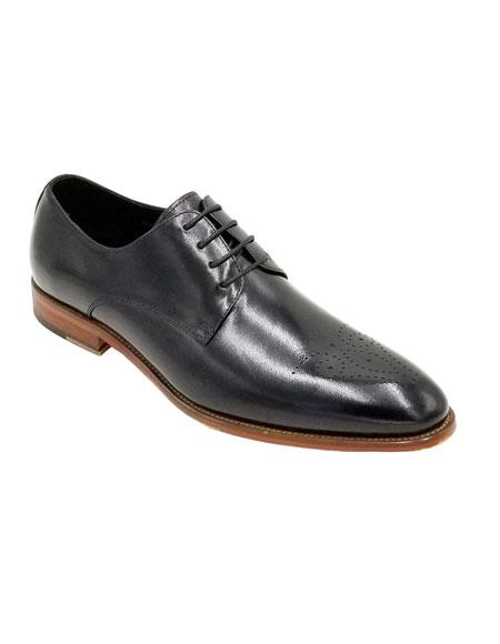 Men's Dress Shoe Black Unique Zota Shoe