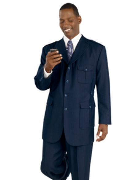 SKU#ML711 Navy Premium Quality Tailored Men's Clothing $199