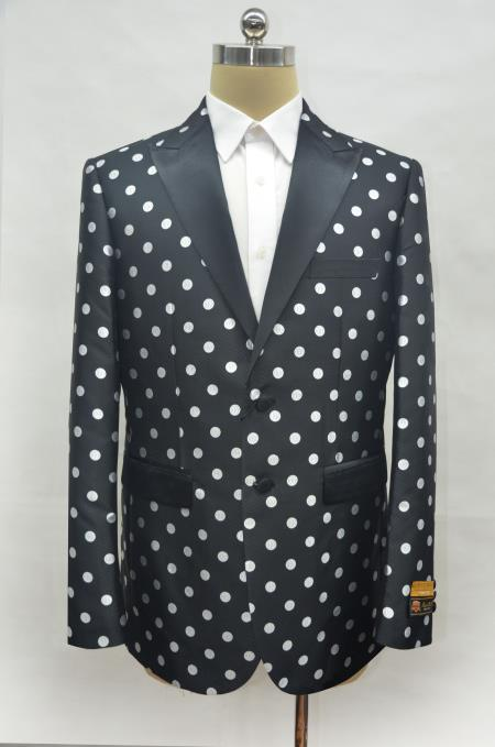 Mens Black ~ White Two Button Cheap Priced Designer Fashion Dress Casual Blazer On Sale Prom Blazer