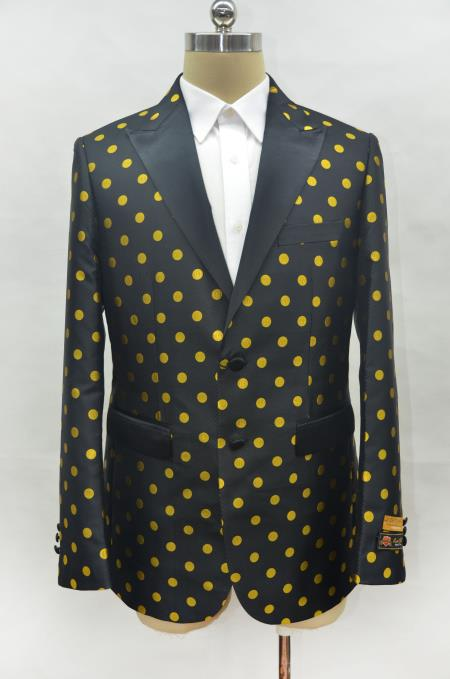Men's Black ~ Gold Cheap Priced Designer Fashion Dress Casual Blazer On Sale One Chest Pocket Prom Blazer