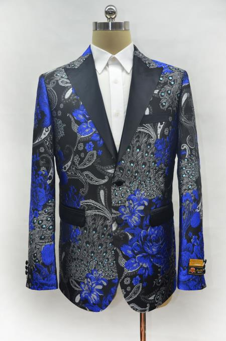 Mens Royal Two Button Cheap Priced Designer Fashion Dress Casual Blazer On Sale Peak Lapel Prom Blazer