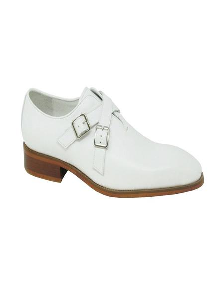 Carrucci Cross Strap Leather Stylish Dress Loafer In White