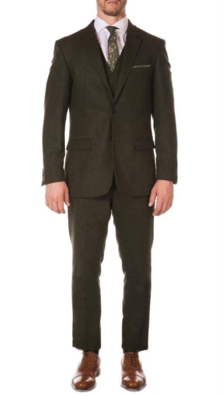 Men's Green Peaky Blinders Fashion Clothing Suit