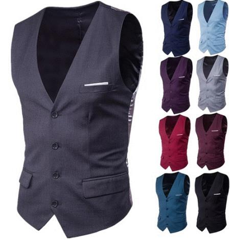 Randomly Selected Color, Pattern, and Fabrics Mystery Deal Dress Vest No Return Policy (Sales are Final)