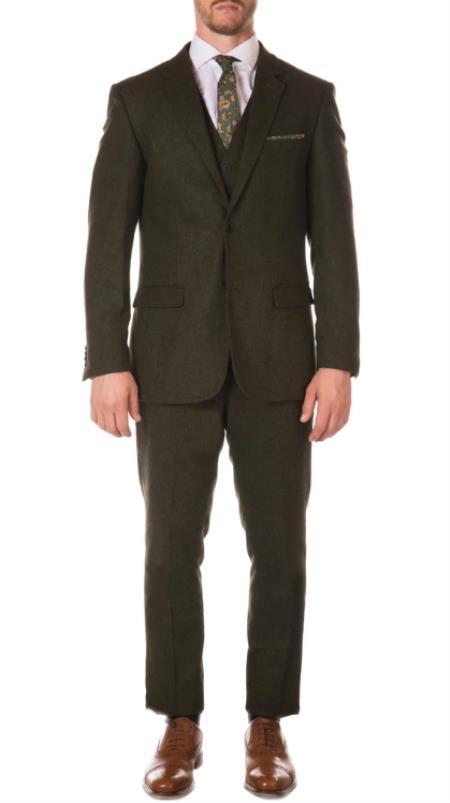 Peaky Blinders Style Reed Tweed Vested Suit